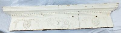 Antique Georgian Large Carved Solid Wood Door Panel Pediment Frieze Cornice B