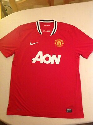 *Manchester United Home Shirt ~ Adult Large ~ Nike ~ 2011/2012*