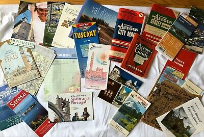 VINTAGE North America & European Maps & Travel Brochures FRANCE Italy Hawaii