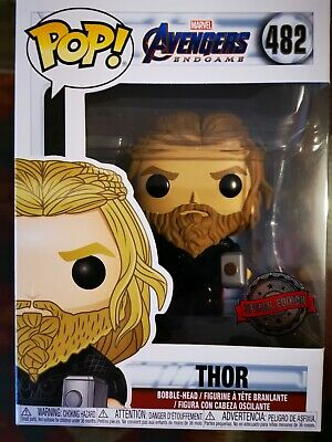 Funko Pop Marvel Avengers Endgame 482 Thor with Mjolnir and Stormbreaker