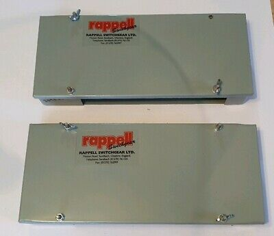 x2 Rappell switchgear steel electrical junction box covers 30980640 industrial