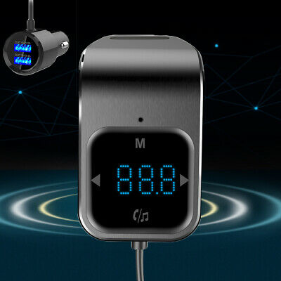 US Wireless Bluetooth Car FM Transmitter Hands-free Radio Receiver Touch Control