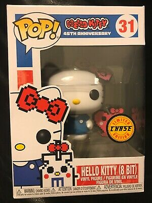 Funko Pop Hello Kitty 8 Bit 45th Anniversary CHASE #31 New & Hot !! (Box Damage)