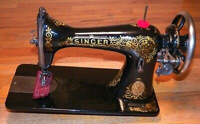 Restored Antique 1911 Singer 15-30 Treadle Sewing Machine Head - Sews Very Well