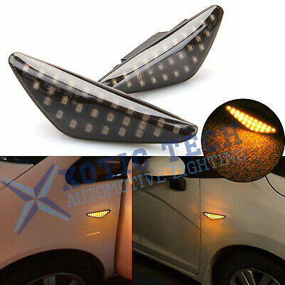 Amber LED Smoke Side Marker Light Lamps For BMW E70 X5 E71 X6 E72 F25 X3