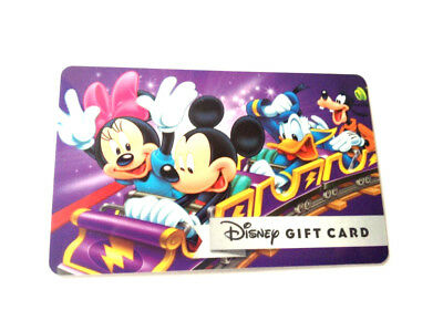 DISNEY MICKEY and Minnie MOUSE DUCK GOOFY NEW ! GIFT CARD RECHARGEABLE 0 BALANCE
