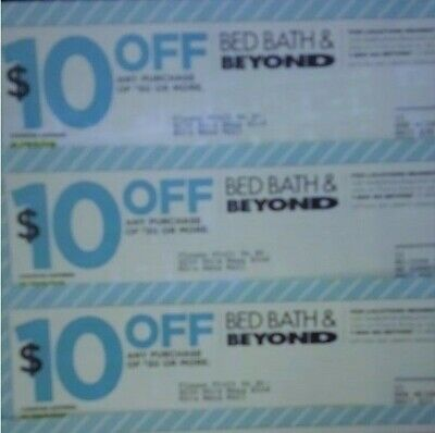3 Coupons Bed Bath Beyond $10 off $30 Holiday Baby Gift Shower Dorm Home