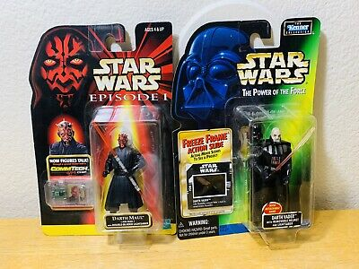 Star Wars Darth Vader & Maul Removable Helmet Power of the Force Freeze Frame