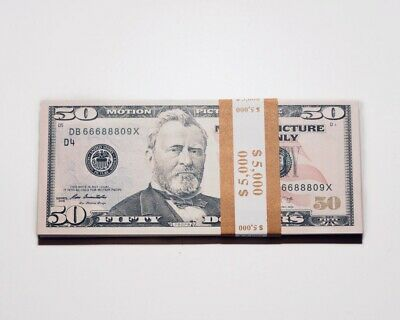 Movie, Music Video, Photo Purposed Prop Money - 5,000 Five Thousand