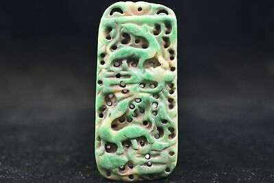 Chinese ancient aristocratic wearing Jadeite jade carving pendant Y36