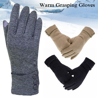 2019 Men Women Male Winter Warm Fleece Lined Thermal Knitted Gloves Gifts NEW AU