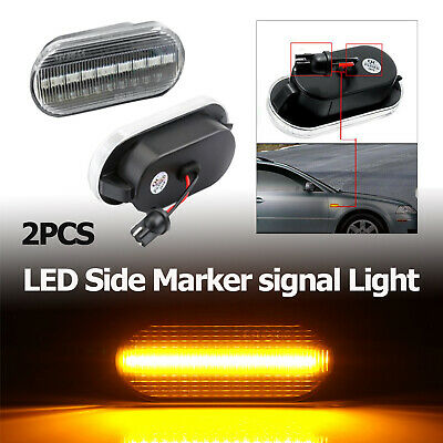 Pair Dynamic LED Side Marker signal Light Indicator Repeaters For VW T5 Golf UK