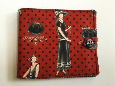 needlecase fabric Red/black Paris Felt page inside Gift Present Needles Book New