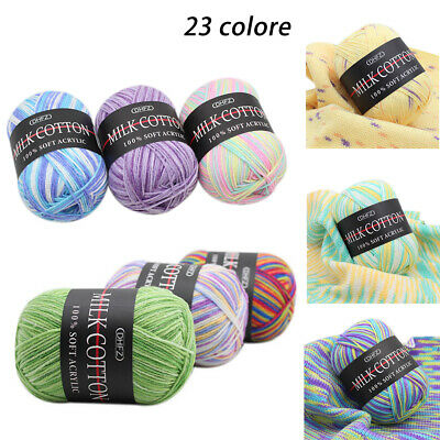 Mixed Lot 23 color 50g Knitting Yarn Crochet Milk soft Baby Cotton Wool Hot  AU