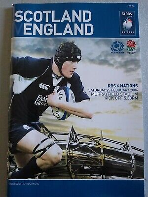 SCOTLAND V ENGLAND 25th February 2006 -SIX NATIONS CHAMPIONS-RUGBY PROGRAMME