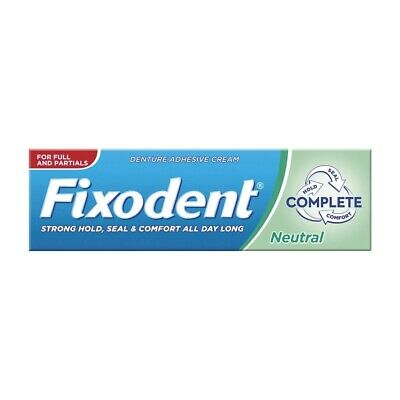 Fixodent Complete Neutral Denture Adhesive 6 x 47g Comfort Strong Hold & Seal