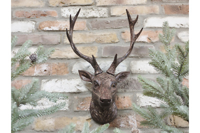 Stag Head, Wall Mounted, Brown Deer Wall Sculpture Decoration