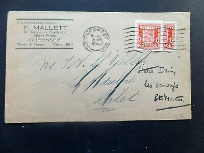 Guernsey 1943 commercial cover used twice