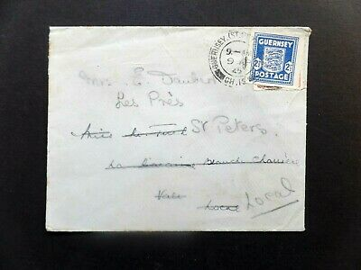 Guernsey 1945 commercial cover used twice