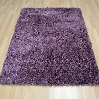 Large Small XL Shaggy Rug Modren Heather Sheg Non Shed Plain Thick Fluffy Carpet