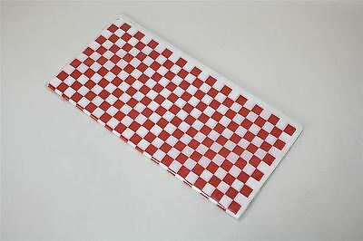 "50 x NEW 12 x 12"" Red White Checkered Food Disposable Basket Liner Tissue Papers"