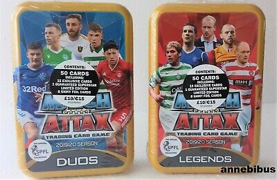 Topps Match Attax SPFL 2019/20 Trading Card Collection ~2X  Mega Tin