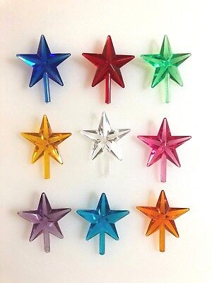9 MEDIUM CLASSIC STAR TOPPERS Ceramic Christmas Tree