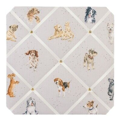 Wrendale Designs Doggy Fabric Notice Board - A Dogs Life 40cm Pin Board