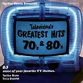 """RARE """"TELEVISION'S GREATEST HITS-70s & 80s - 65 TV THEMES w/BOOKLET-SHIPS FREE"""