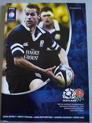SCOTLAND V ENGLAND 21st February 2004 -SIX NATIONS CHAMPIONS-RUGBY PROGRAMME