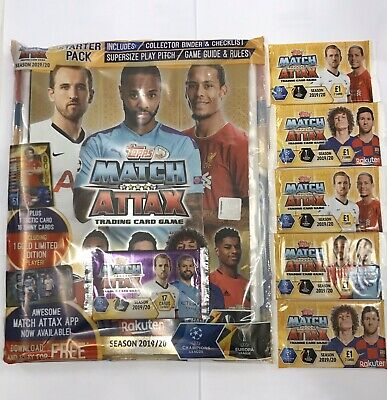 Match Attax 2019/20 Starter Pack Collector Binder + 5 Pack of trading card 19/20