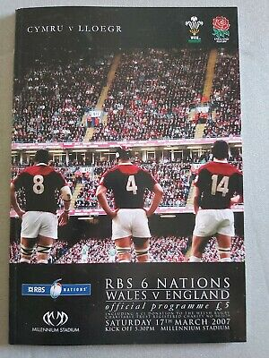 WALES  ENGLAND 17th March 2007 RUGBY UNION PROGRAMME