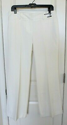 New York & Company 7th Ave City Stretch White Dress Pants Womens Petite 8P NWT