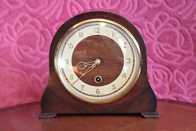 Vintage British 'Smiths Enfield' 8-Day Mantel Clock, early 20th Century