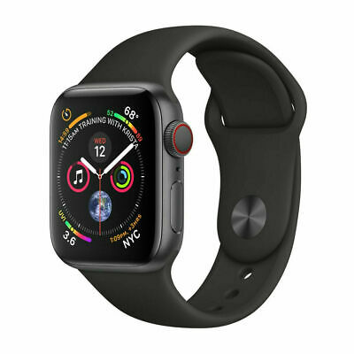 Apple Watch Series 4 44mm GPS + Cellular 4G LTE - Space Gray - Black Sport Band