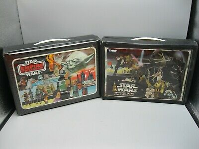 Lot of 2 1980 & 1977 Star wars action Figure Carrying Case Empire Strikes Back