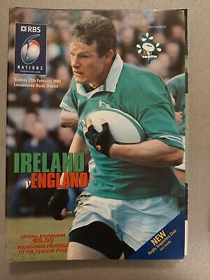 Ireland v England 27th February 2005 Rugby Union Six Nations Programme