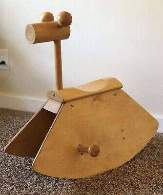 Mid Century Modern Rocking Horse Bent Plywood Creative Playthings Era