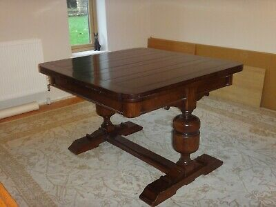 Antique Draw Leaf Oak Extending Dining Table