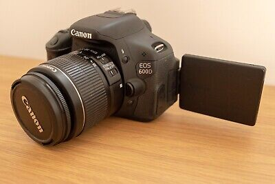 Canon 600d Plus Lens, Camera Bag, Charger, Tripod, And Strap