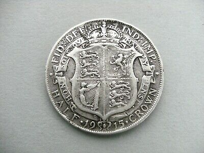 King George V 1915 Silver Half Crown Coin. Silver Content 0.925.Ref Spink 4011.