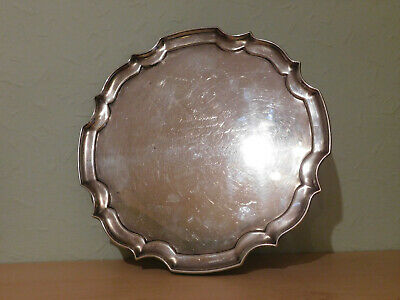Vintage English Hallmarked Silver Salver Tray With Cambridge University History