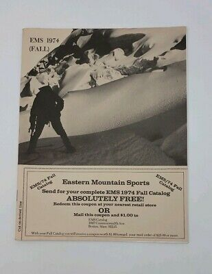Fall 1974 Eastern Mountain Sports ( EMS ) Vintage Catalog - Camping - Hiking