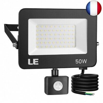 LE Projecteur LED Ultra Mince 50W 5000LM Blanc Froid 5000K, Spot LED Ext (50w)
