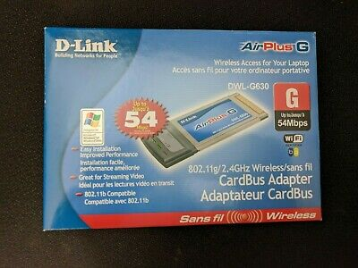 Lot of 5 D-Link DWL-G630 2.4GHz 802.11g Notebook PCMCIA Wireless Cards