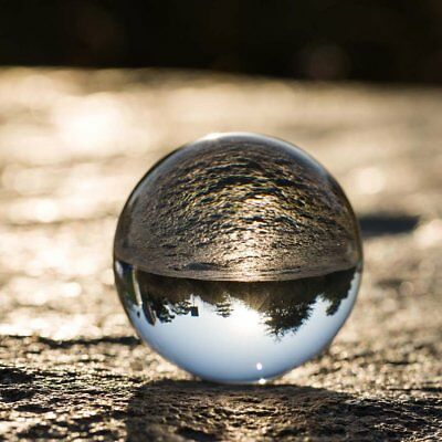 Clear Glass Crystal Ball Healing Sphere Photography Photo Props Gifts 60mm