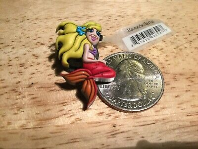 Jibbitz Original Crocs Shoe Charm MERMAID YELLOW HAIR RED TAIL
