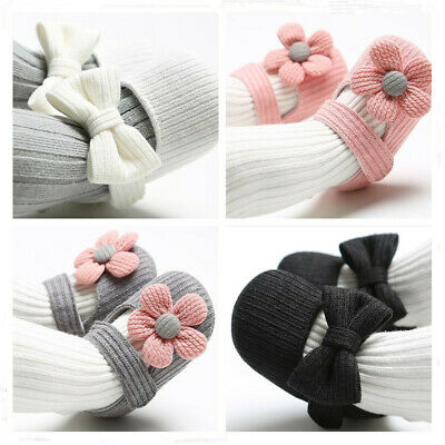 Newborn Baby Girl Crib Shoes Child First Shoes Infant Wool Yarn Crawling Shoes