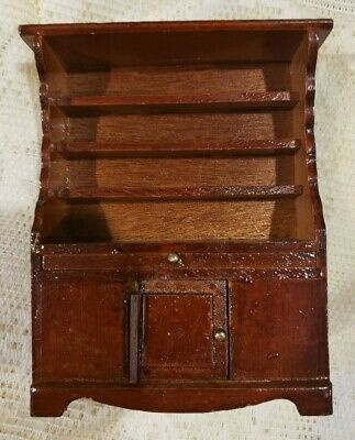 Dollhouse Miniature Dining Room Hutch China Cabinet Wood Kitchen