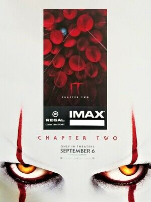 It Movie Chapter 2 IMAX Regal Collectible Ticket & Mini Poster! 4 Out Of 1,000!